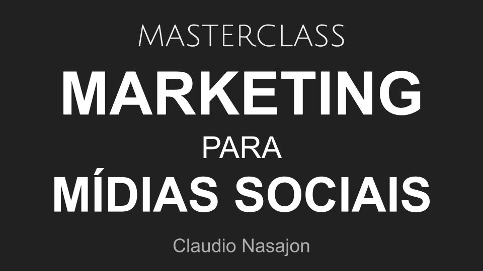 masterclass marketing para mídias sociais